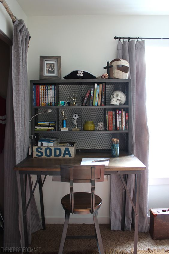 05-industrial-study-nook-with-a-desk-and-a-shelving-unit-placed-on-it